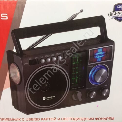 Радиоприемник  LuxeBass - A 62   AM/FM/SW + USB/SD/TF